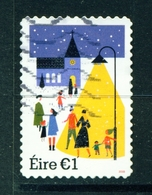 IRELAND - 2018 Christmas 1 Euro  Used As Scan - 1949-... Republic Of Ireland