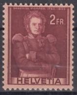 SCHWEIZ, 385 DP I Abart: Doppelprägung, Postfrisch **, Historische Bilder 1941 - Variétés