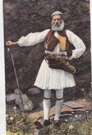 CPA  / Costume Grec (Grèce) Pâtre  Greek Dress Shepherd     Fot Alinari   Bon état - Greece