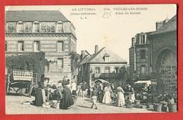 CPA  76 Veules Les Roses - Seine Inferieure - Place Du Marché N°694 - Veules Les Roses