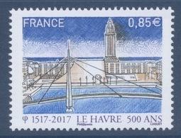 N° 5166 500e Anniversaire De La Fondation Du Havre Faciale 0,85 Euro - France
