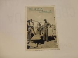 FOTOGRAFIA ADI QUALA (ERITREA) DISTRIBUZIONE CIBI -1948 (PICCOLA FOTO) - Guerra, Militari