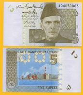 Pakistan 5 Rupees P-53a 2008 UNC - Pakistán