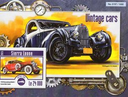 Sierra Leone - Vintage Cars - Bugatti 57SC Atlantic-Duesenberg Model J  -   1v MS   -  Neuf/Mint/MNH - Voitures