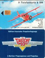 GERMANY - Beech D17S/Staggerwing, TakeOff 93/Flughafen Schonefeld(K 463 C), Tirage 2000, 05/93, Mint - Germania