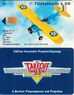 GERMANY - Boeing PT 17/Stearman, TakeOff 93/Flughafen Schonefeld(K 463 B), Tirage 2000, 05/93, Mint - Germania