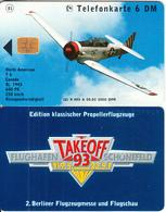 GERMANY - North American T 6, TakeOff 93/Flughafen Schonefeld(K 463 A), Tirage 2000, 05/93, Mint - Germania