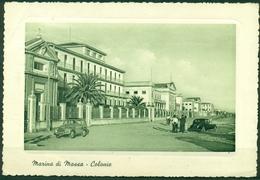 CARTOLINA - CV685 MARINA DI MASSA (MS) Colonie, FG, Viaggiata 1957 A Cologno Al Serio, Francobollo Asportato, - Massa