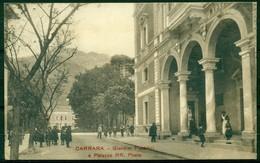 CARTOLINA - CV302 CARRARA (MS Massa Carrara) Giardini Pubblici E Palazzo RR. Poste, FP, Viaggiata 1920, - Carrara