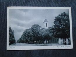 TEMERIN SERBIA - ROM KATH TEMPLOM - TRAVELLED - Serbia