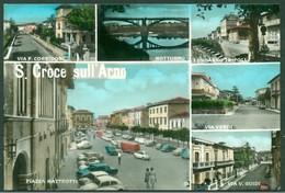 CARTOLINA - CV1774 SANTA CROCE SULL'ARNO (Pisa PI) Con 6 Vedutine, FG, Viaggiata 1958, Ottime Condizioni - Pisa