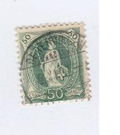 SUISSE  N° 77  Ob   Cote 15,00 - 1882-1906 Coat Of Arms, Standing Helvetia & UPU