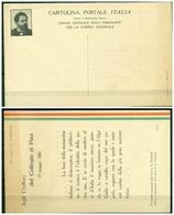 CARTOLINA - CV799 PISA Cartolina Postale Italia Edita A Beneficio Della Unione Generale Degli Insegnanti Per La Guerra N - Pisa