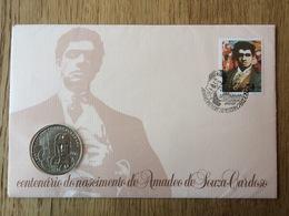 Portugal 1987, Centenario Do Nascimento De Amadeo De Souza-Cardoso, Numis-letter: 100 Escudos - Monedas
