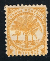 1886 Palm Trees Michel 10 Ungebraucht Ohne Gummierung Mit Falz X - Samoa (Staat)