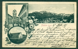 CARTOLINA - CV2284 PALAIA (Pisa PI) Cartolina Con 3 Vedutine, FP, Viaggiata 1899 Per Pisa, Francobollo Asportato, - Pisa