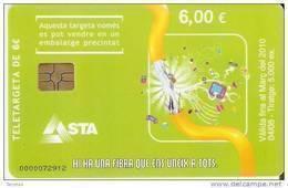 AND-159 TARJETA DE ANDORRA FIBRA OPTICA DEL 4/08 TIRADA 5000 - Andorra