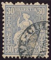41 / 33 Sitzende Helvetia 30 Rappen  Sauber Gestempelt - 1862-1881 Helvetia Assise (dentelés)