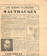 RESISTANCE CHARLES RENAUD DE LA SNCF  DEPORTE A MAUTHAUSEN COUPURES EXTRAITS DE  3 JOURNAUX - 1939-45