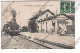CPA Vallée De La Cure (89) : La Gare De Lucy Sur Cure Et Bessy - Arrivée Du Train De Paris - France