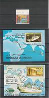 DJIBOUTI Années 1984/91 Inauguration Système Cable Sous-marin N° Y/T : 685** Et Bloc N° 3 Et 5** Côte : 18,00 € - Djibouti (1977-...)