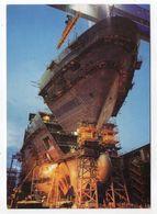 """SAINT  NAZAIRE -Novembre 2001---Bateau """"MILLENIUM"""" En Construction Aux Chantiers De L'Atlantique--tirage 5000 Ex - Saint Nazaire"""