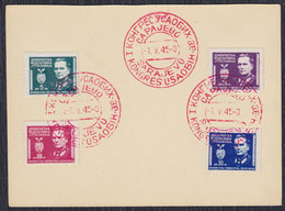 Yugoslavia 1945 Definitive Marshal Tito, USAOBIH Postmark On Commemorative Card - 1945-1992 Socialist Federal Republic Of Yugoslavia