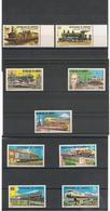 DJIBOUTI Années 1979/81 Locomotives  N° Y/T :491/494-531/533-603/604** Côte : 15,00 € - Djibouti (1977-...)