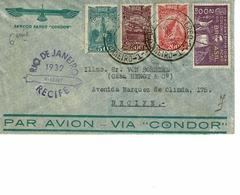 AVIATION ZEPLIN RIO DE JANEIRO 1932. RECIFE. AERO CONDOR - Brésil