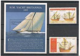 DJIBOUTI Années 1986/2000 Bateaux  N° Y/T :620/621- Et Bloc N° 16** - Djibouti (1977-...)