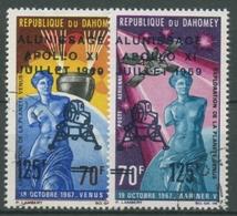 Dahomey 1969 Apollo XI Erste Bemannte Mondlandung 387/88 Gestempelt - Benin – Dahomey (1960-...)