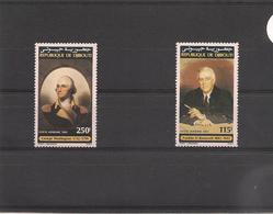 DJIBOUTI Années 1991/92 Hommes Célèbres Georges Washington Et Benjamin Franklin P.A.   N° Y/T :176/177** - Djibouti (1977-...)