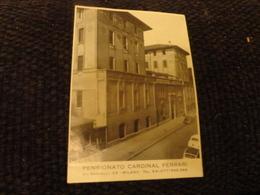PUBBLICITARIO PENSIONATO CARDINAL FERRARI-MILANO-ANNI 60 - Cartoncini Da Visita