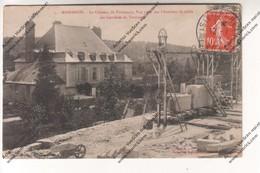 RARE CPA MASSANGIS (89) : Le Château De Tormancy Vue Prise Des Chantiers De Taille Des Carrières (envoyée Avallon) - France