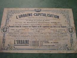L'URBAINE-CAPITALISATION - Banque & Assurance