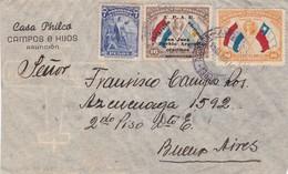 CASA PHILCO. CAMPO E HIJOS. ENVELOPPE CIRCULEE PARAGUAY TO ARGENTINA 1944. BANDELETA PARLANTE - BLEUP - Paraguay