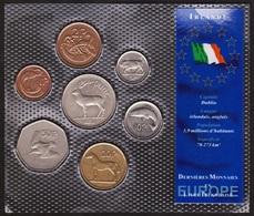 BLISTER SET IRLANDE / IRELAND - 7 Pieces - Série Dernieres Monnaies En Europe - Irlande