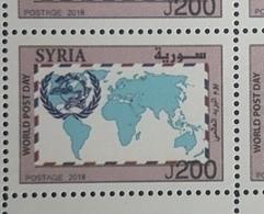 Syria 2018 NEW Stamp MNH - World Post Day - Syrië