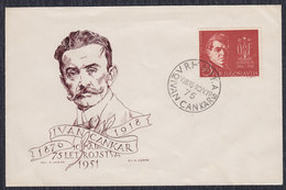 Yugoslavia Slovenia 1951 Writer Ivan Cankar Birth Anniversary, Cover Michel 641 - 1945-1992 Socialist Federal Republic Of Yugoslavia