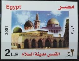E24 - Egypt 2001 SG MS2175 MNH Minisheet S/S - Al Quds Jerusalem, City Of Peace - Egypt
