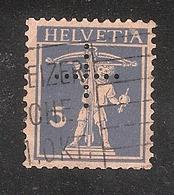 Perfin/perforé/lochung Switzerland No YT197 1924-1942 The Son Of W. Tell  +   Basler Handelsbank Basel - Perforés