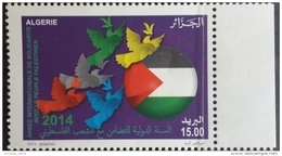 ALGERIA NEW  2014 INTERNATIONAL YEAR FOR SOLIDARITY WITH PALESTINIAN PEOPLE Stamp MNH - Algeria (1962-...)