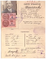CARTE D'IDENTITE  N°8.993  -POLICE D'ETAT  TOULON LA SEYNE COMMISSARIAT DU 5ème ARRt  Juin 1940 - Cartes