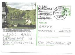 Deutschland Postkarte Stempel Bad Sachsa Kurort Rheuma Herz - Thermalisme