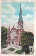 New York Saratoga Springs First Methodist Episcopal Church Curteich - Saratoga Springs