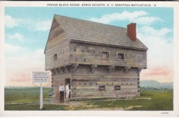 New York Saratoga Springs Bemis Heights Period Block House 1932 Curteich - Saratoga Springs