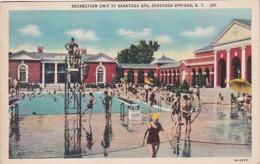 New York Saratoga Springs Swimming Pool At Saratoga Spa 1948 Curteich - Saratoga Springs