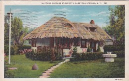 New York Saratoga Springs Thatched Cottage At Olcotts 1936 Curteich - Saratoga Springs