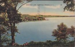 New York Saratoga Springs View Of Saratoga Lake 1941 - Saratoga Springs