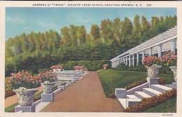 "New York Saratoga Springs Gardens At ""Yaddo"" Spencer Trask Estate 1949 Curteich - Saratoga Springs"